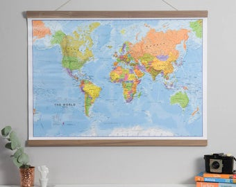 Antique world map home wall hanging push pin map living political world map poster home wall hanging map of the world push pin map living room bedroom gift study world map free shipping gumiabroncs Choice Image