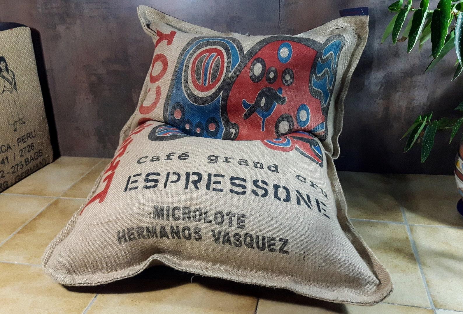 Sitzkissen aus Kaffeesaecken