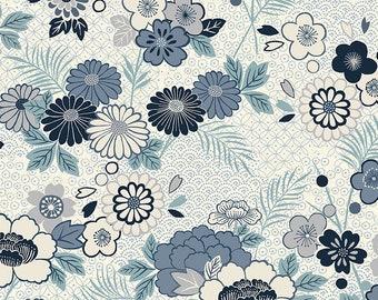 Tonal Floral Makower Fabric Cream Katie Jane 100/%Cotton Multiple Sizes