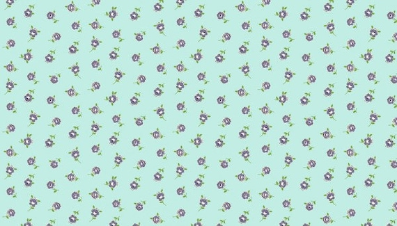 100/% cotton Fabric Patchwork Quilting Makower Katie Jane Ditzy Turquoise
