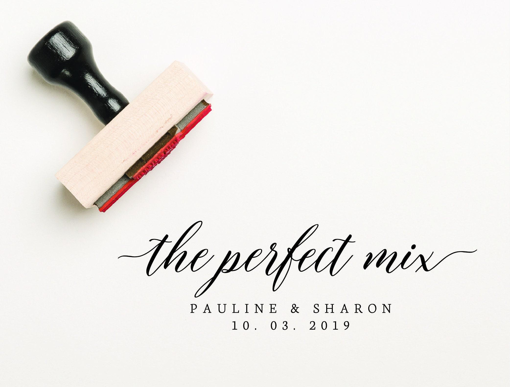 The Perfect Mix Favor Stamp, Custom Favor Stamp, Wedding Stamp, Self Inking  Stamp, Custom Wedding Favour Stamp, DIY Favor Stamp (SFAVS607)