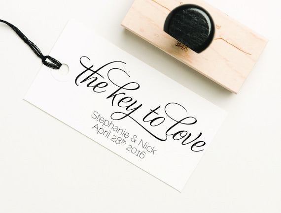 The Key To Love Favor Stamp DIY