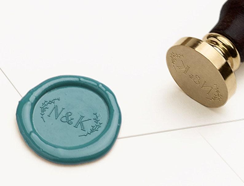 Monogram Wax Seal Stamp Initials Wax Stamp RSVP Envelope Seal Wedding Invitations Wax Seal Wedding Wax Seal Wedding Stamp WMONO102