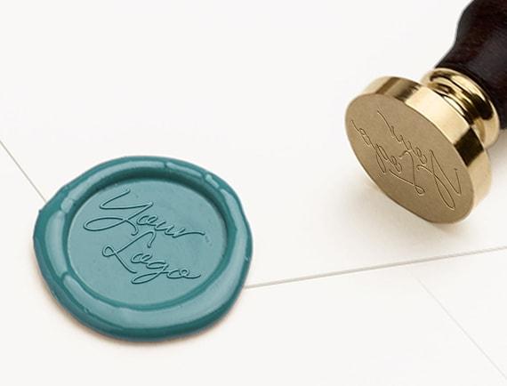 Custom Logo Wax Seal Stamp Business Branding