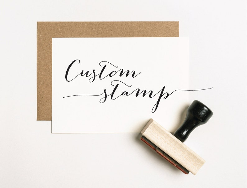 CUSTOM Rubber Stamp Custom Stamp Logo Stamp Personalized image 0