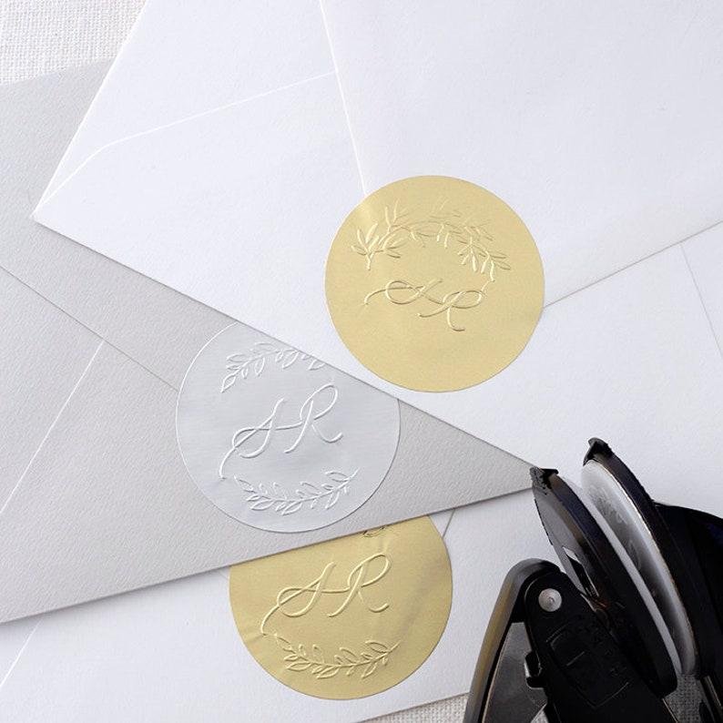 Seal Stickers Foil Stickers Foil Seals Gold Foil Seal image 0
