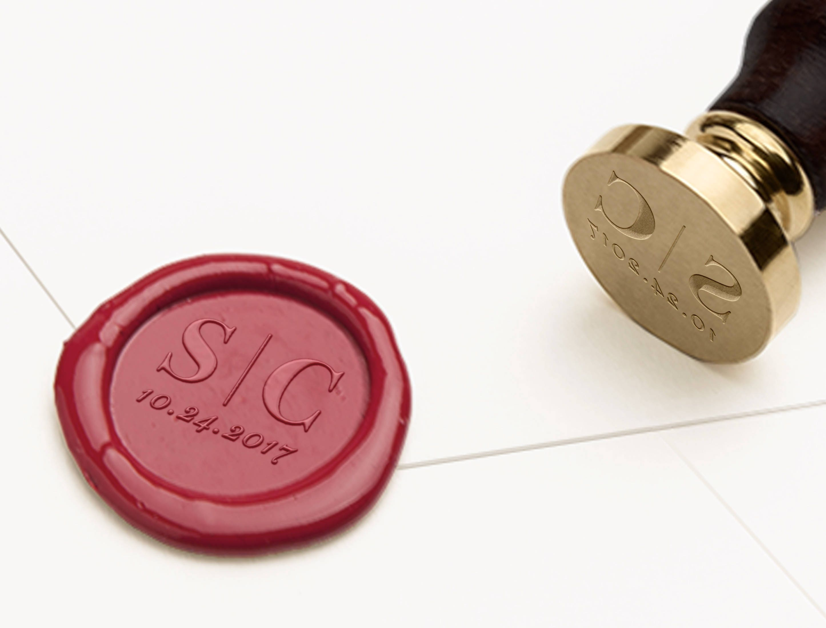 Save the Date Initials Wax Seal Monogram Wax Seal Wedding   Etsy