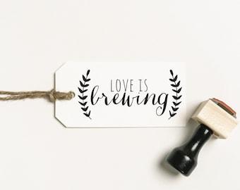 Love is Brewing Stamp, Beer Favor Stamp, Tea Favour Stamp, Coffee Favor Stamp, Beer Favour Stamp, Brewing Stamp (SFAVS232 - S.2)