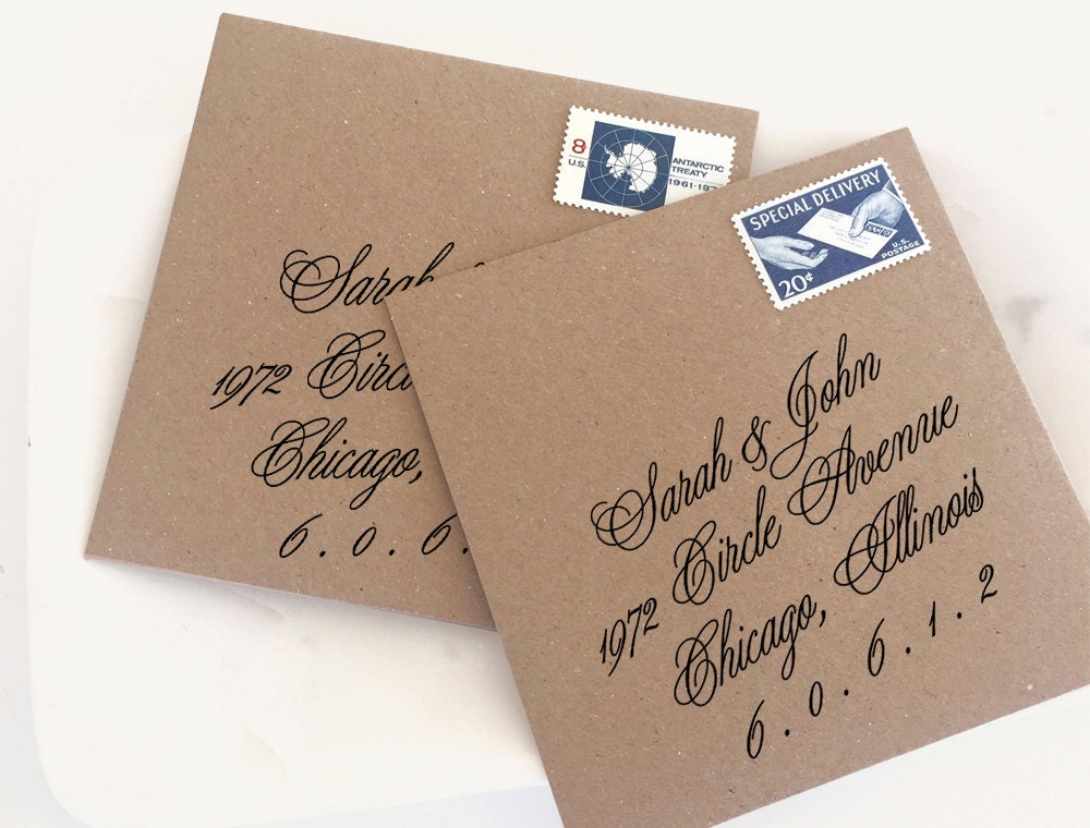 Wedding Invitations With Response Cards And Envelopes: Return Address Stamp. Wedding Invitation Stamp. RSVP