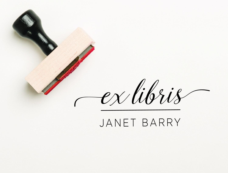 Ex Libris geritzt Exlibris-Stempel personalisiert Bibliothek