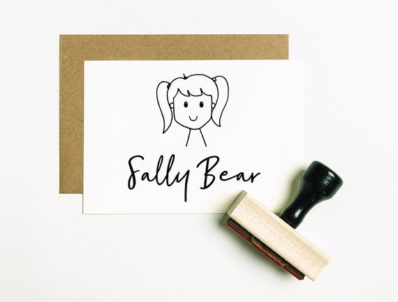 SPEEP107 Made by Stamp Custom Childs Artwork Stamp Custom Kids Stamp Childrens Art Stamp Official Work of Art by Stamp Gifts for Kids