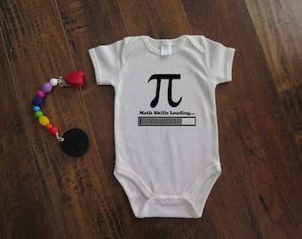 76e052d6a Math Skills Loading - Customizable Bodysuit - Cute onesie for baby shower  gift - Geeky Bodysuit - Science inspired - Funny Bodysuit [082]