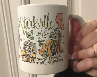 Starkville, MS Mississippi 11oz Gift Mug