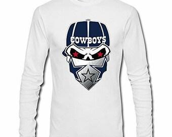 Dallas Cowboys PunishertLong Sleeve Tee Shirt  Men s Long Sleeve Dallas  Cowboys Shirt Unisex Skull Dallas Cowboys Tee Shirt 7738bbc1e