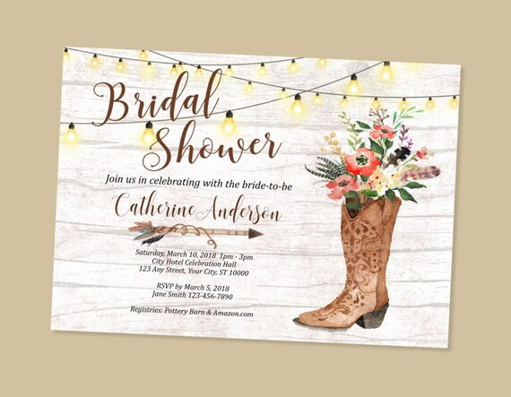 f5d7c264c1f Cowgirl Bridal Shower Invitation