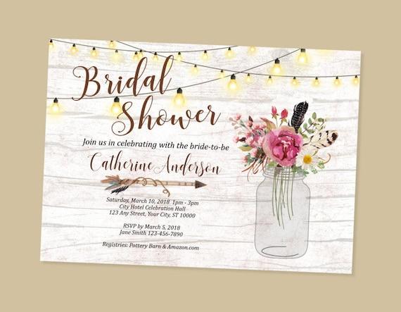 Rustic bridal shower invitation wood string of lights bridal il570xn filmwisefo