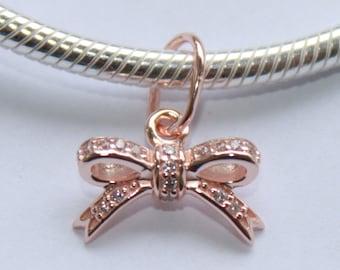 6831fd9d4 new Authentic Genuine Pandora charm Pendant ROSE GOLD collection Sparkling  Bow -380357CZ new