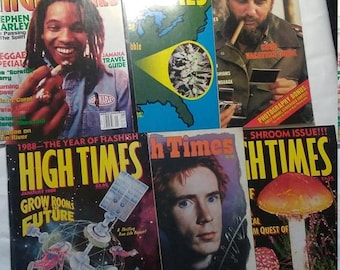 Flash 50% off sale 6 Vintage Hightimes Magazines from Large Collection