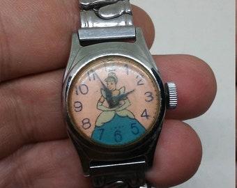 Flash 50% off sale Vintage Disney Cinderella Wrist Watch