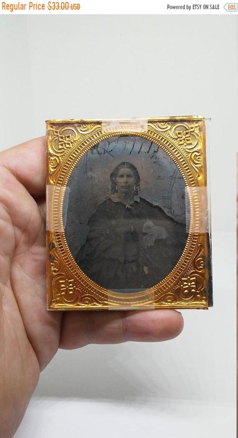a2679cc538627 Summer Sale 30% off Antique Pre Civil War Deggerotype Photograph