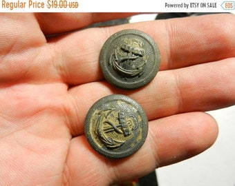 Flash 50% off sale Vintage WW2 Navy Military Uniform Buttons