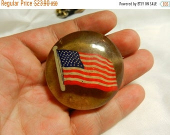 Flash 50% off sale Vintage American Flag Patriotic Horse Bridle Rosette