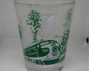 Flash 50% off sale Vintage Southern Railway Drinking Glass