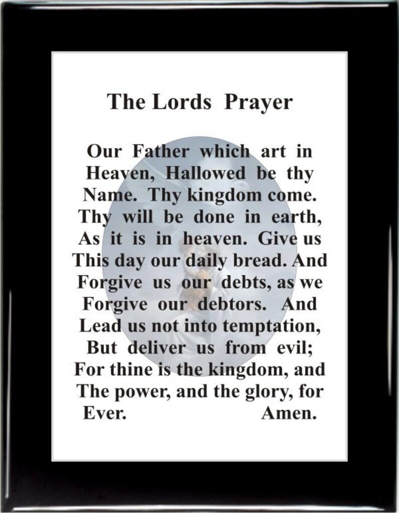Lord's Prayer, 1201, Prayers, morning prayers, morning sayings, daily  sayings, daily prayers, gifts, gifts for her, bible verses, gifts