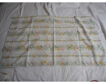 Pair of Vintage Pillowcases With Large Floral Design