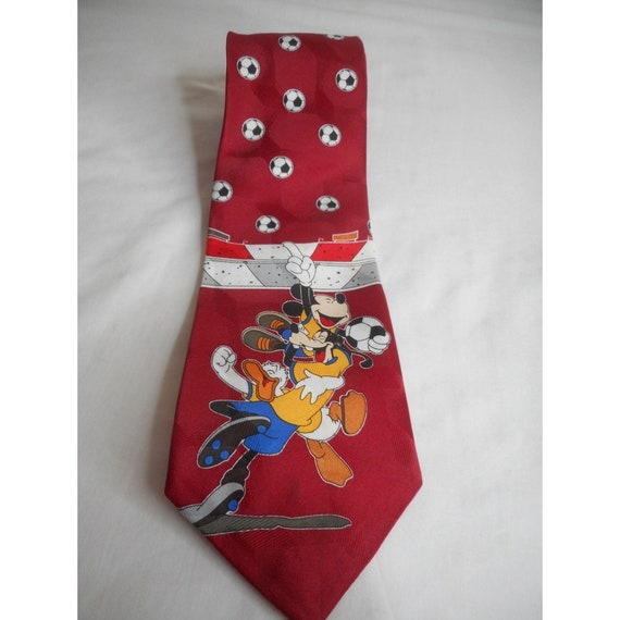 Mickey Mouse And Goofy Soccer Necktie Mickey Mouse Necktie Disney Goofy Necktie Vintage Necktie See Description Vintage Disney Necktie