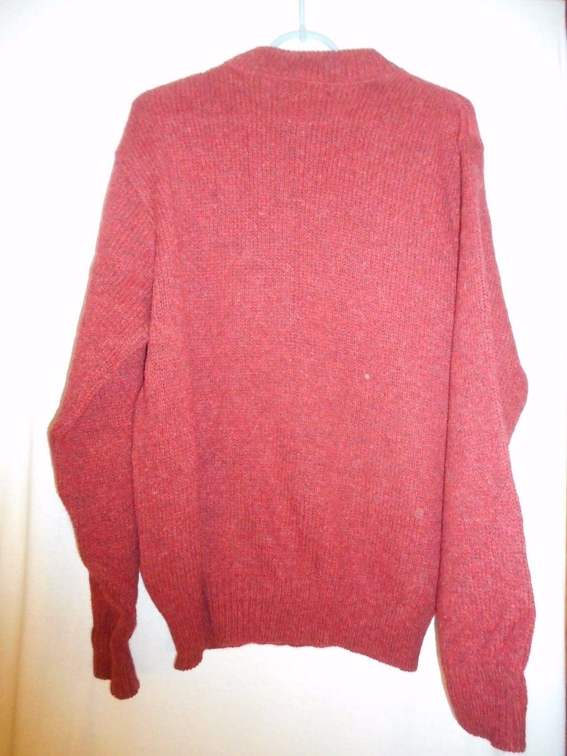 Bean Men/'s wool blend brick red sweater Vintage Size L L.L