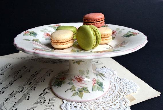 Hubsche Vintage Franzosisch Kuchen Stand Prasentation Teller Etsy