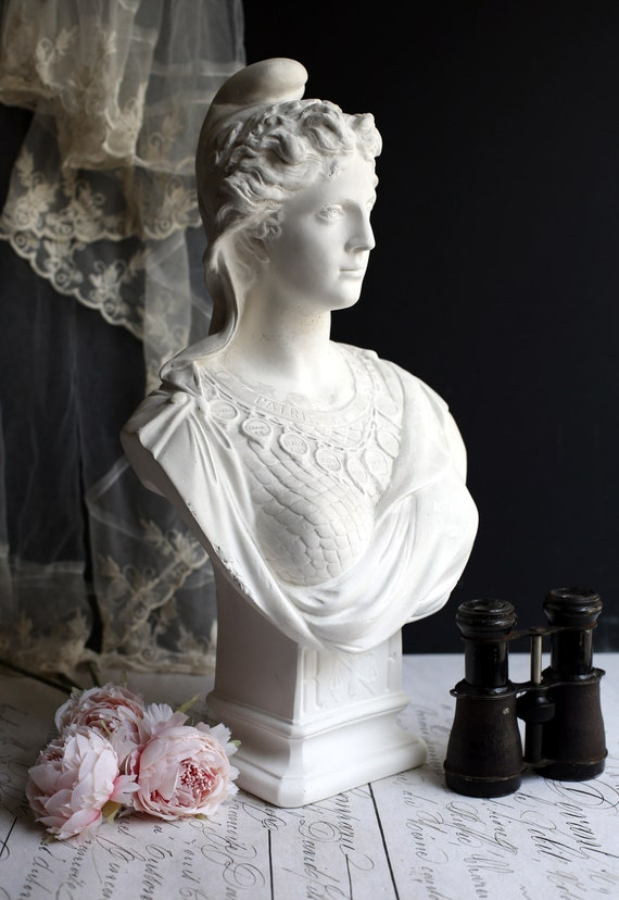 Large Antique French Bust Marianne Symbol Of France Chalkware Etsy
