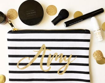 Best gifts for bridesmaids - Glitter name - For bridesmaids - Makeup bag