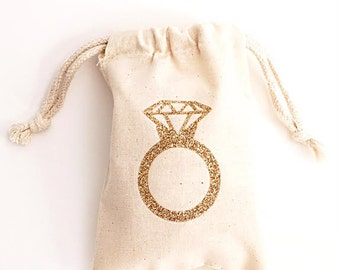 Bridal Shower Favors Glitter Diamond Ring Bridal Shower Decorations