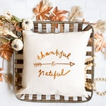 Thankful  Pillow | Fall Pillow Cover with Foil Print