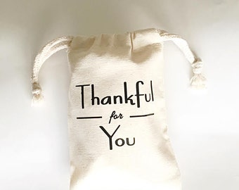 Thanksgiving favor bags - Custom colors - Thanksgiving favor - Thankful for you