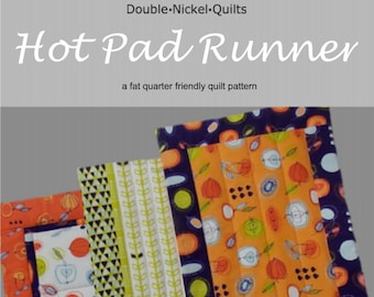 Hot Pad Table Runner downloadable pdf pattern by Double Nickel Quilts #DNQ126