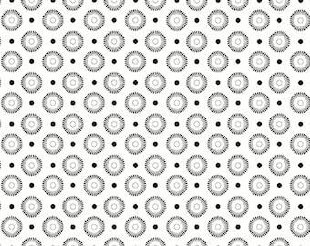 Typewriter Keys fabric in Dark Gray from the Basically Low