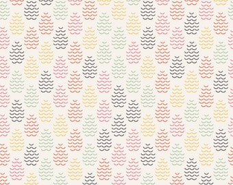 Windsor Garden Sophie fabric in White by Kelly Parker Smith for Sweet Bee Designs Fabrics #18306-WH