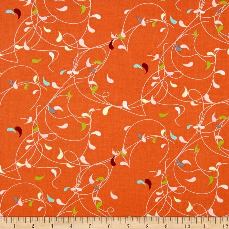 Flow Splash fabric in Orange for Moda Fabric by Zen Chic and image 0