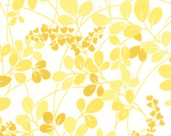 Yellow and White Sprigs floral fabric from the Simply Colorful collection by V and Co for Moda Fabrics
