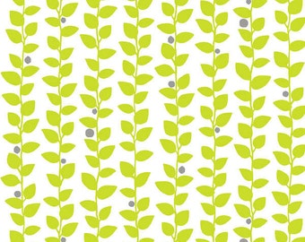 Vine fabric in Green on White from the Brigitte Fabric Collection by Michelle D'Amore Designs for Contempo Studios and Benartex Fabrics