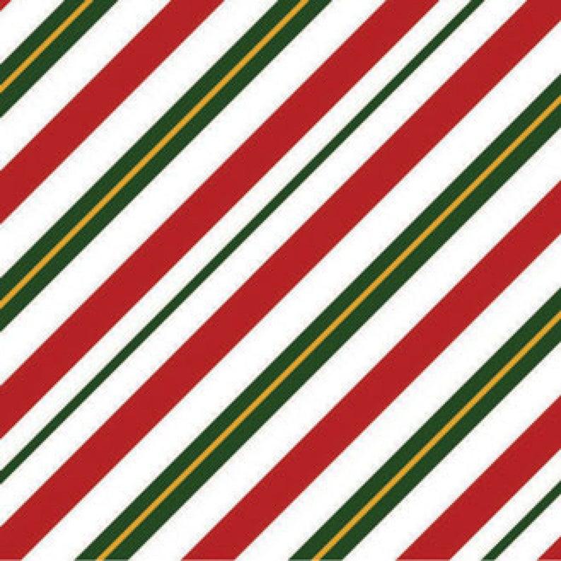 Season's Greetings Diagonal Stripe Christmas fabric by image 0