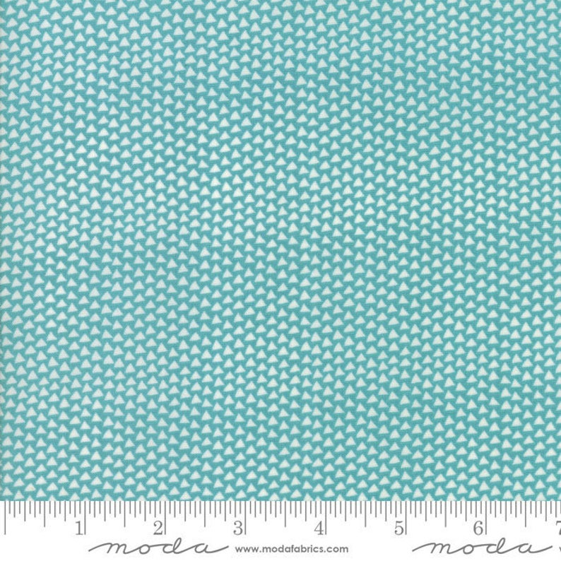 Sunday Supper Teal Napkins fabric by Sweetwater for Moda image 0