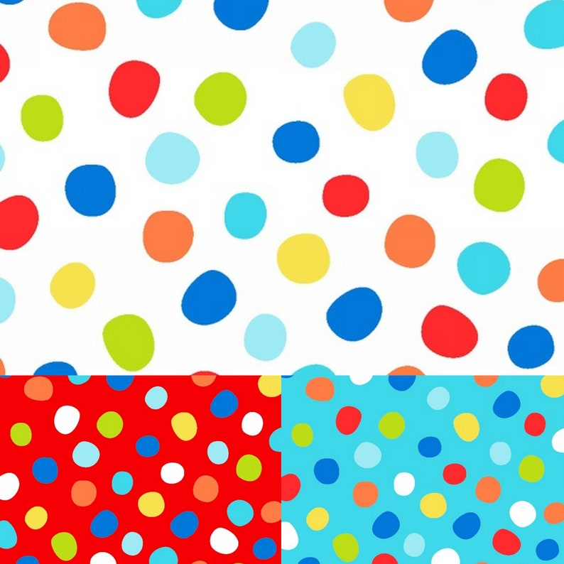 3 yard bundle of coordinating Dots fabric from the image 0