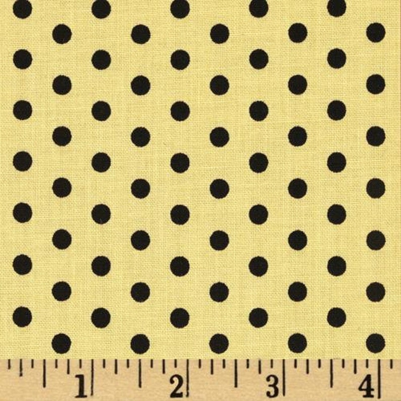 Anapola Dots-Black on Yellow fabric by Red Rooster Fabrics image 0