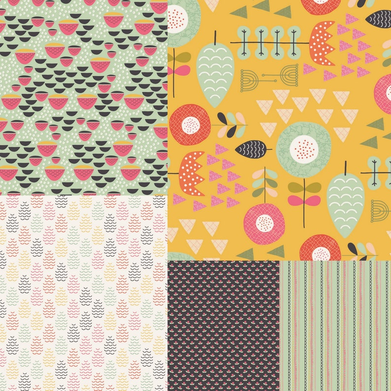 5 yard bundle of Windsor Garden fabric  by Kelly Parker Smith image 0