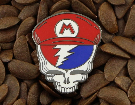 0ede0138939 Grateful Dead Pins Steal Your Face Mario Lighting Bolt Pin