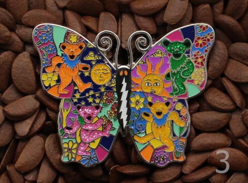 c7c439cfc03 Grateful Dead Hat Pins Butterfly Bears Lighting Bolt Pin 2 1 3